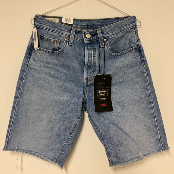 501s Levi High Waisted Knee Shorts - SOLD